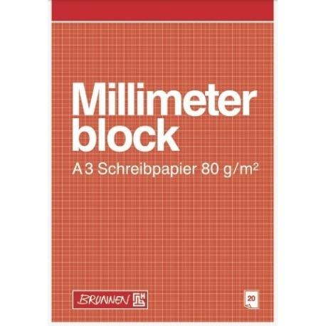 Bloc de papier millimétré A3 20f