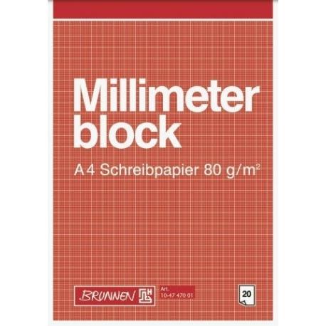 Bloc de papier millimétré A4 20f