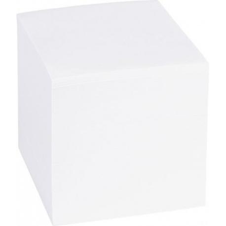 Bloc mémos 9x9x9cm blanc 700f