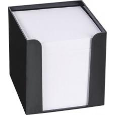 Boîte mémos 9,5x9,5x9,5cm noir 700f
