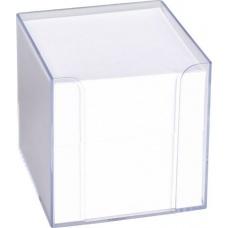 Boîte mémos 9,5x9,5x9,5cm trans700f