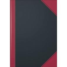 Carnet rouge et noir A4 uni 192p