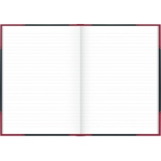 Carnet rouge et noir A4 ligné 192p