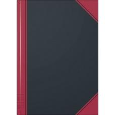 Carnet rouge et noir A5 ligné 192p