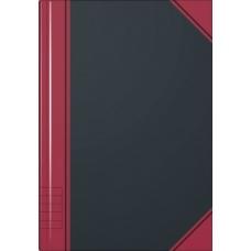 Carnet rouge et noir A6 ligné 192p