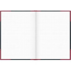 Carnet rouge et noir A4 5x5 192p