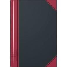 Carnet rouge et noir A6 5x5 192p