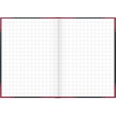 Carnet rouge et noir A7 5x5 192p