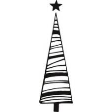 Tampon Arbre avec étoile