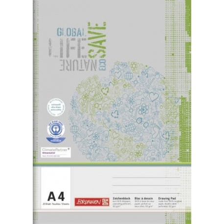 Bloc dessin A4 20f Recycling