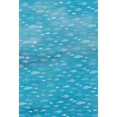 Carton A4 200g Poissons Aqua bleu