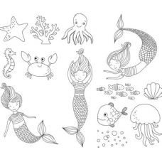 Set tampons Mermaid 13 pces