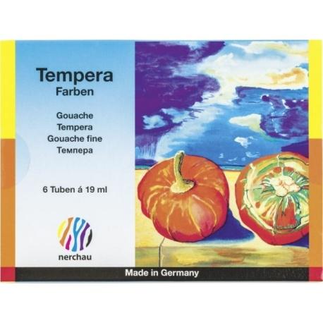 Gouache tempera 19ml 6 couleurs