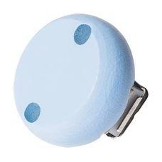 Clip bois bleu pastel 30mm