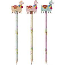 Crayon à papier avec gomme Lama
