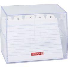 Boîte à fiches A6 garnie transparen