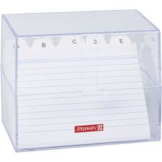 Boîte à fiches A6 remplie transparente