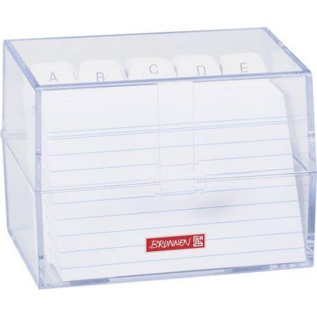 Boîte à fiches A7 remplie transparente