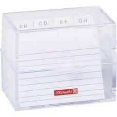 Boîte à fiches A8 remplie transparente
