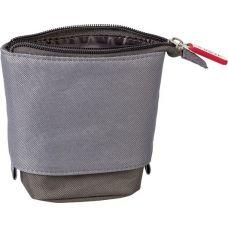 Trousse et pot à crayon gris