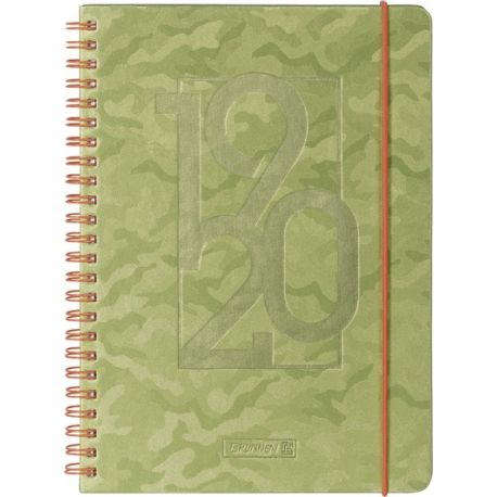 Agenda scolaire A5PP Camouflage green 18