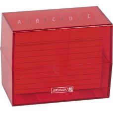 Boîte à fiches A7 remplie red
