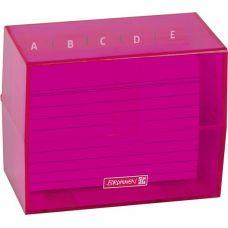 Boîte à fiches A7 remplie pink
