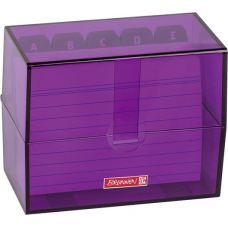 Boîte à fiches A7 remplie purple