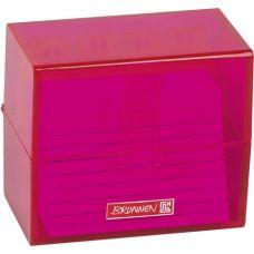 Boîte à fiches A8 remplie pink