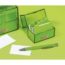 Boîte à fiches A8 remplie kiwi