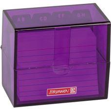 Boîte à fiches A8 remplie purple