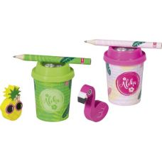 Taille-crayon Tropical+crayon+gomme