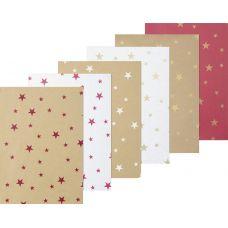 Wrapping Paper 1x5m 30rls Stars assort.