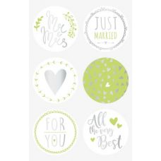 Sticker Just Married rd vert 4cm