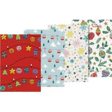 Papier cadeau 70x200 Light Christmas