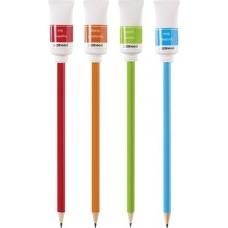 Crayon pap.avec gomme Tube peinture