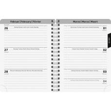 Agenda scol.12x16cm PVC 1s/2p Pink