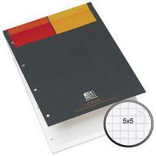 Carnet A4+ agrafé Notepad, couverture souple, 160 pages 80 g, petits carreaux 5x5 mm