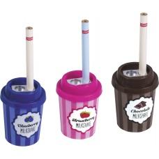 Taille-crayon Milkshake 2 us+crayon