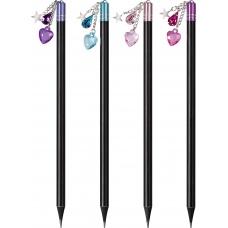 Crayon à papier noir avec pendentif