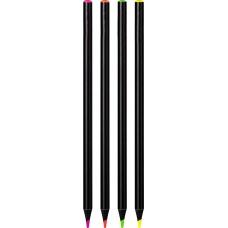 Crayon de couleur Fluo set de 4pc