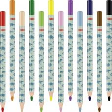Gros crayon de couleur Dino 12pc