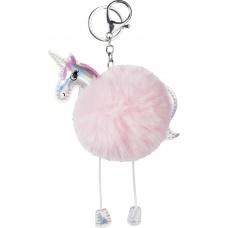 Porte-clé Pompon Licorne Princesse