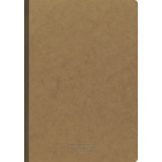 Carnet A4 FACT!plus FSC marron uni