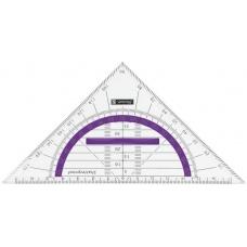 Équerre 16cm incass., poignée,purple