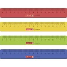 Règle 16cm 4couleurs assorties