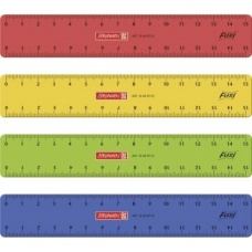 Règle 15cm flexible colorée