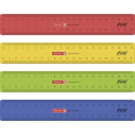 Règle 20cm flexible colorée
