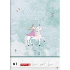 Bloc dessin A3 Princesse 20f