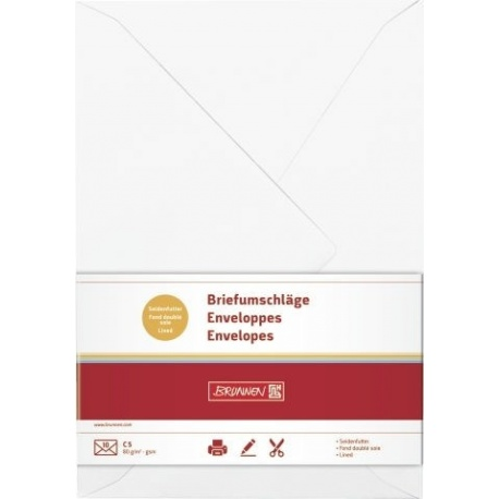 Enveloppe C5 doublée bla 10pc